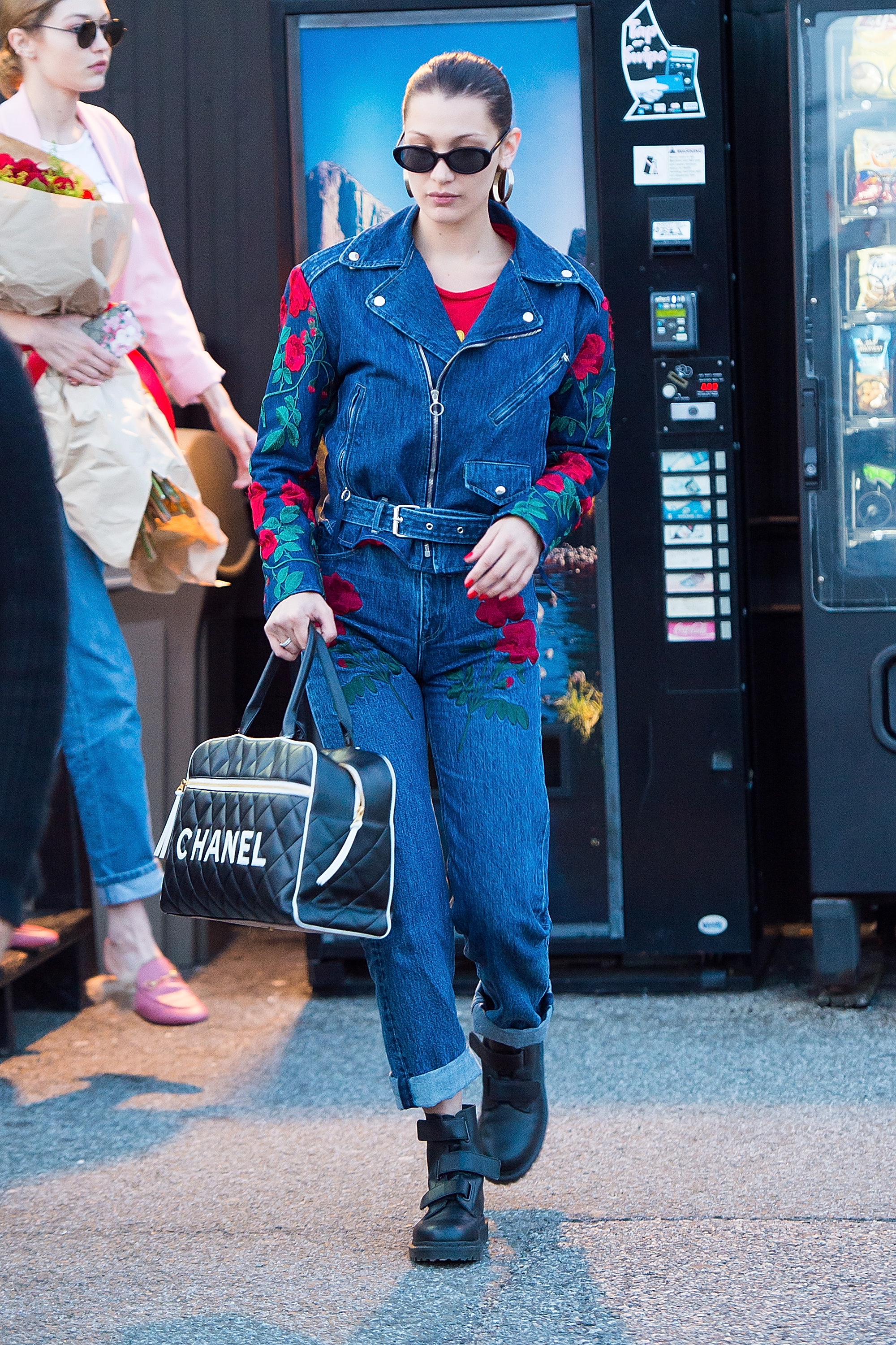 NEW YORK, NY - APRIL 23:  Model Bella Hadid is seen in Midtown on April 23, 2017 in New York City.  (Photo by Gotham/GC Images)